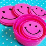 SMILE FOOD CONTAINER 4P SET PINK