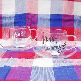 HEART WARMING 耐熱ガラスカップ&ソーサー