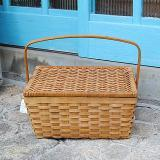 ウィッカーバスケット コンテナボックス(L)