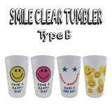 (通販)SMILE CLEAR TUMBLER 4柄セット Type B