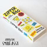 ZIPPER BAG SMILE ASST