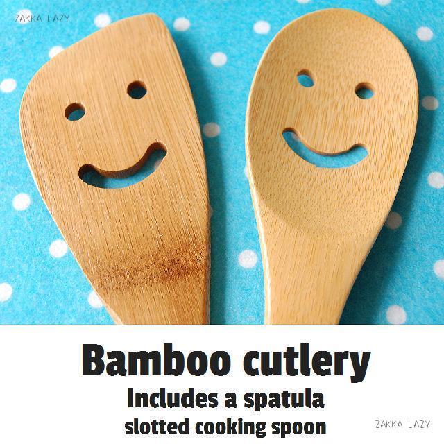 Bambooカトラリー クッキングスプーン&ヘラ 2pセット